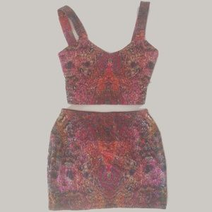 Liberated Heart Pink Crop Tank and Mini Skirt